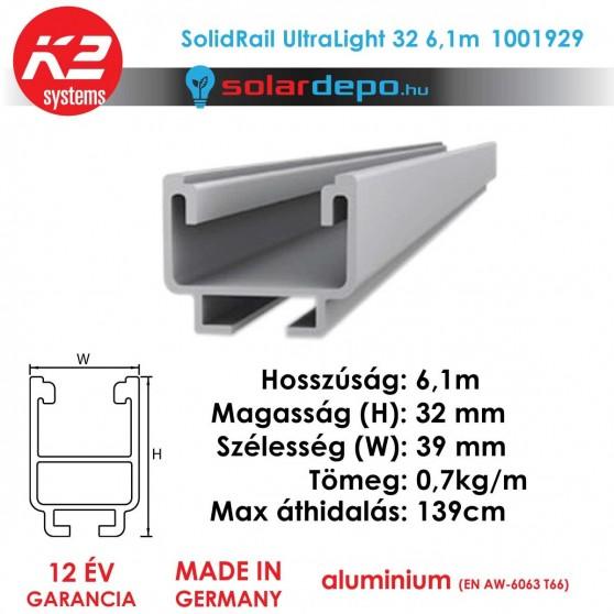 K2 Systems 1001929 SolidRail Ultralight 32 6,1m