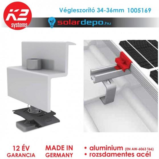 K2 Systems 1005169 Végleszorító szett 34-36mm