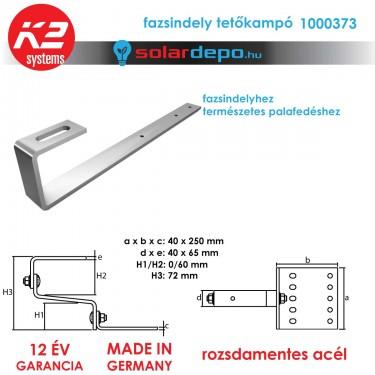 K2 Systems 1000373 tetőkampó fazsindelyhez
