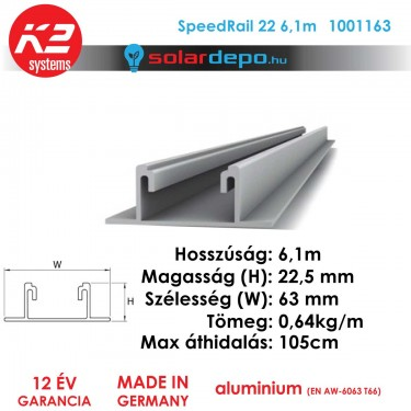 K2 Systems 1001163 SpeedRail 22 6,1m