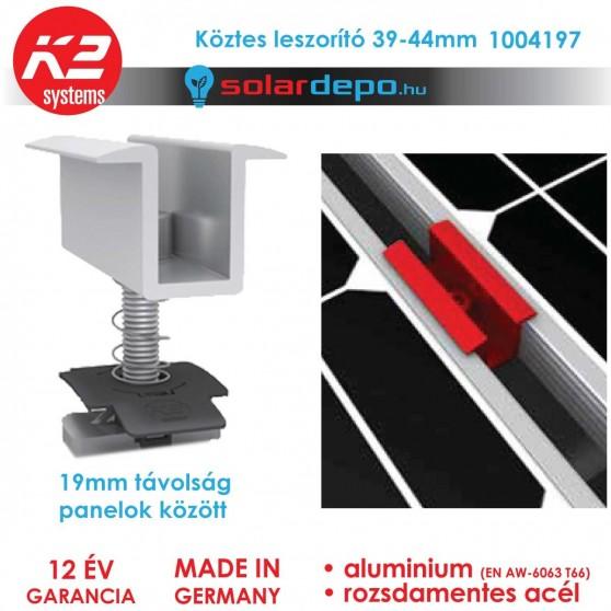 K2 Systems 1004197 Közbenső leszorító szett 39-44mm