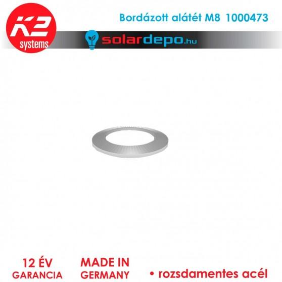 Bordázott alátét M8 rozsdamentes A2