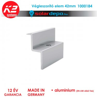 K2 Systems 1000184 végleszorító elem 42mm