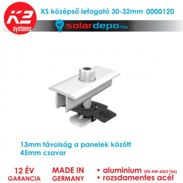 K2 Systems XS közbenső leszorító szett 30-32mm