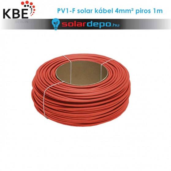 KBE Solar kábel DC 1x4mm² piros