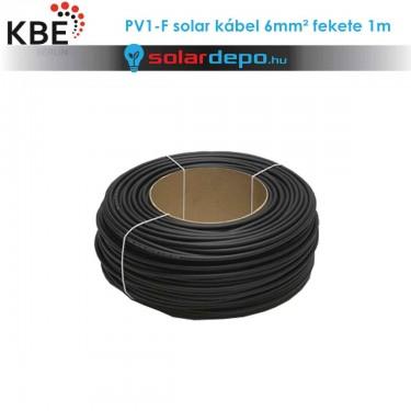 KBE Solar kábel DC 1x6mm² fekete