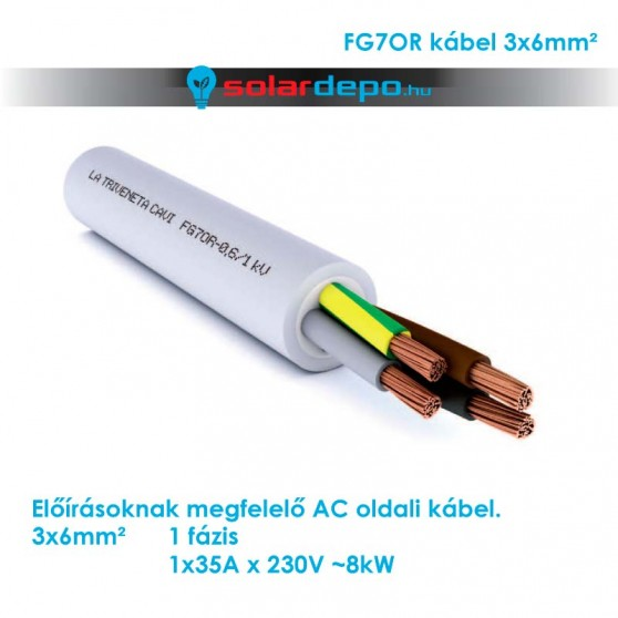 FG7OR kábel - 3x6mm² /fm
