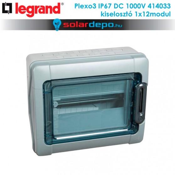 Legrand Plexo3 DC 1000V IP67 doboz 1x12 modulhoz