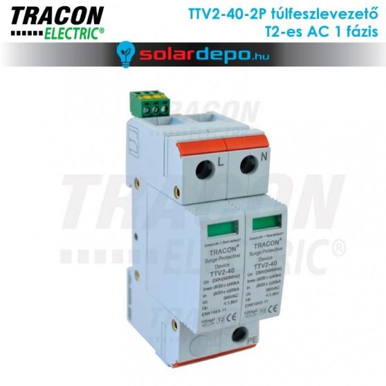 Tracon T2 típusú túlfeszültséglevezető AC 1 fázis