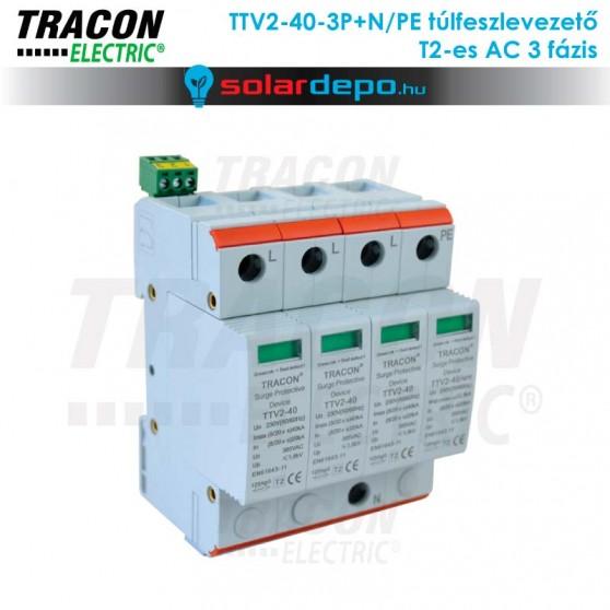 Tracon T2 típusú túlfeszültséglevezető AC 3 fázis
