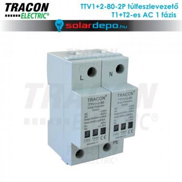 Tracon T1+T2 típusú túlfeszültséglevezető AC 1 fázis