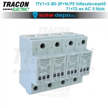 Tracon T1+T2 típusú túlfeszültséglevezető AC 3 fázis