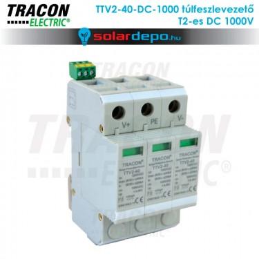 Tracon T2 típusú túlfeszültséglevezető DC 1000V