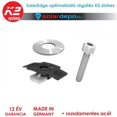 Solaredge optimalizáló rögzítés K2 sínekhez