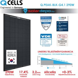 QCELLS QPEAK BLK G4.1 290W full fekete