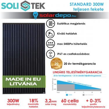 SOLITEK STANDARD 300W full-black