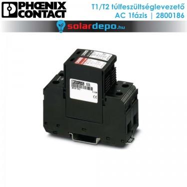 Phoenix Contact T1/T2 típusú túlfeszültséglevezető AC 1fázis
