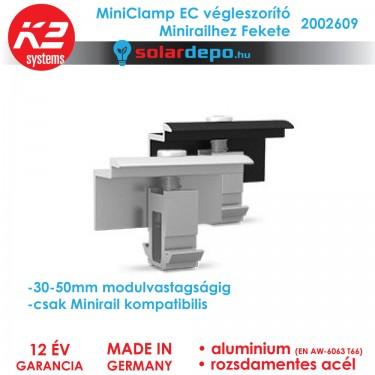 K2 Systems 2002609 MiniClamp EC Fekete végleszorító 30-50mm