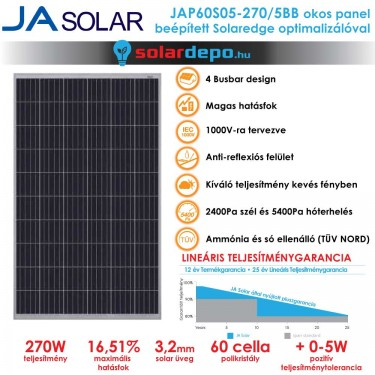 JA Solar solaredge okospanel 270W