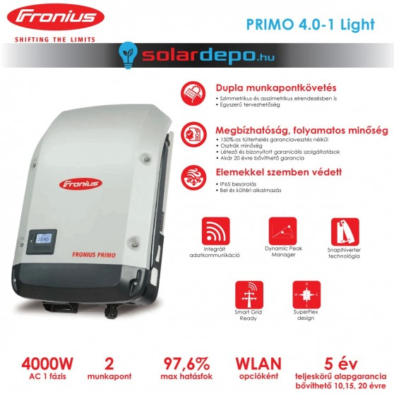 Fronius Primo 4.0-1 Light 2MPP
