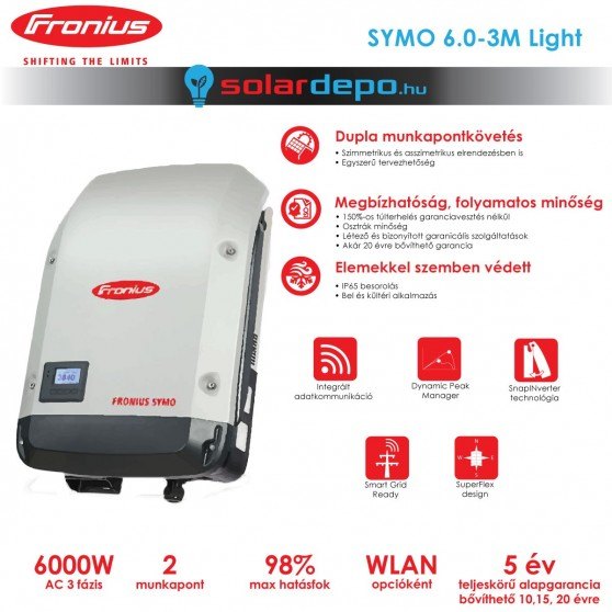 Fronius Symo 6.0-3-M Light 2MPP