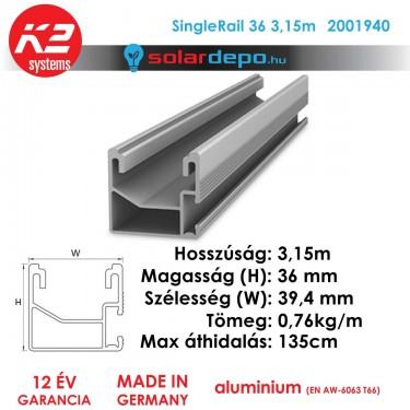 K2 Systems 2001940 SingleRail 32 3,15m