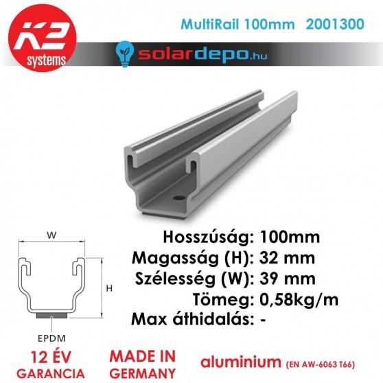 K2 Systems 2001300 MultiRail 100mm