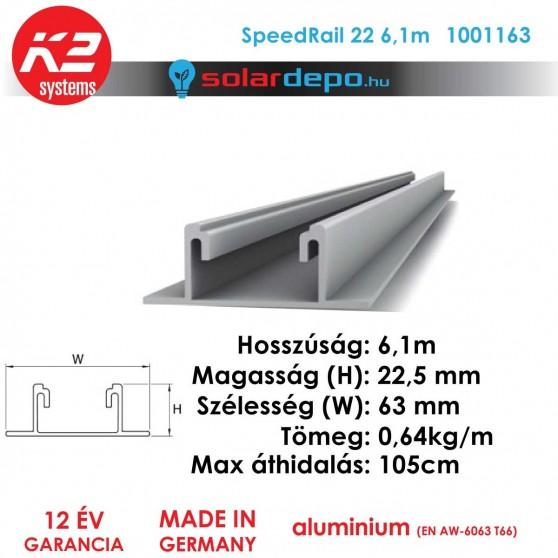 K2 Systems 1001163 SpeedRail 22 6,1m