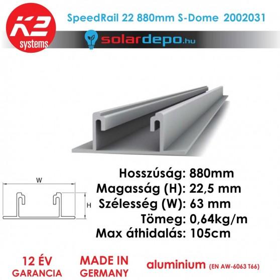 K2 Systems 2002031 SpeedRail 22 880mm