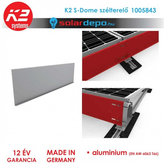 K2 Systems 1005843 S-Dome szélterelő lemez