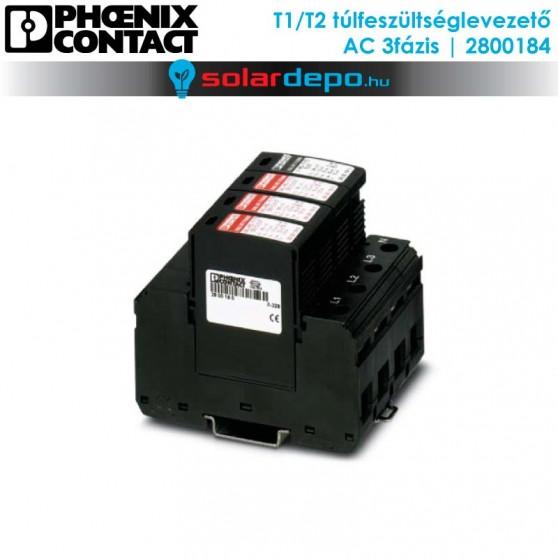 Phoenix Contact T1/T2 típusú túlfeszültséglevezető AC 3fázis