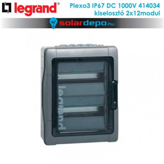 Legrand Plexo3 DC 1000V IP67 doboz 2x12 modulhoz
