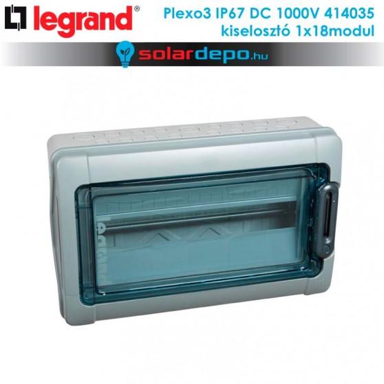 Legrand Plexo3 DC 1000V IP67 doboz 1x18 modulhoz