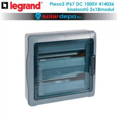 Legrand Plexo3 DC 1000V IP67 doboz 2x18 modulhoz