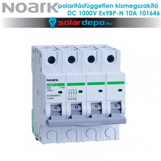 Noark Ex9BP-N 4P C 10A polaritásfüggetlen DC kismegszakító 1000V