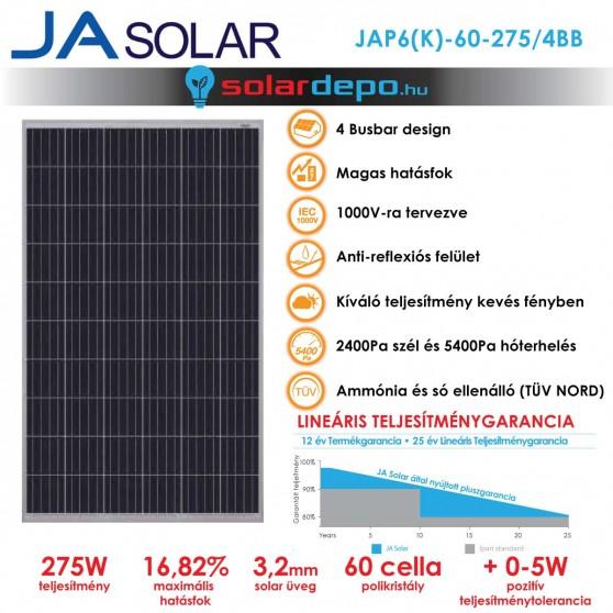 JA Solar JAP6(K) 275W 4BB