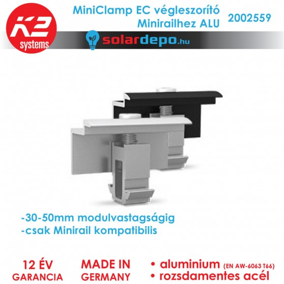 K2 Systems 2002559 MiniClamp EC ALU végleszorító 30-50mm