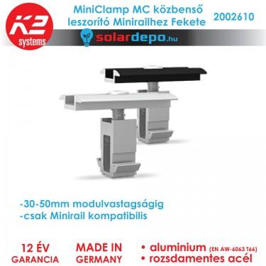 K2 Systems 2002610 MiniClamp MC Fekete közbenső leszorító 30-50mm