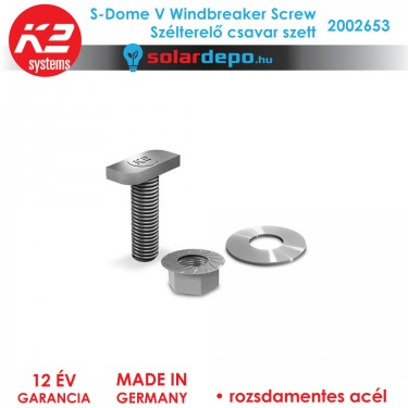 K2 Systems 2002653 S-Dome V Windbreaker Screw Set szélterelő csavar szett