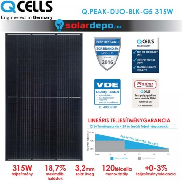 QCELLS QPEAK DUO BLK-G5 315W