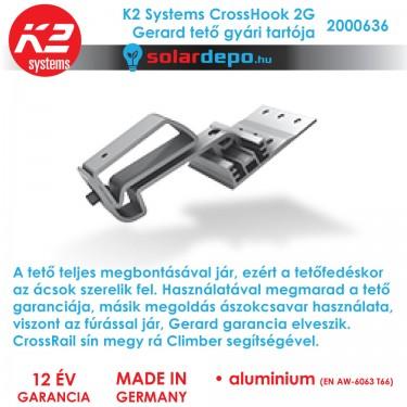 K2 Systems 2000636 tetőkampó Gerard tetőfedéshez