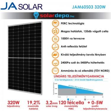 JA Solar 320W mono PERC félcellás