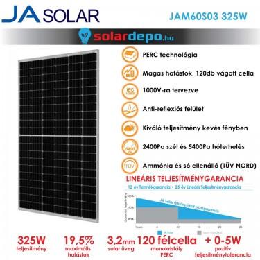 JA Solar 325W mono PERC félcellás