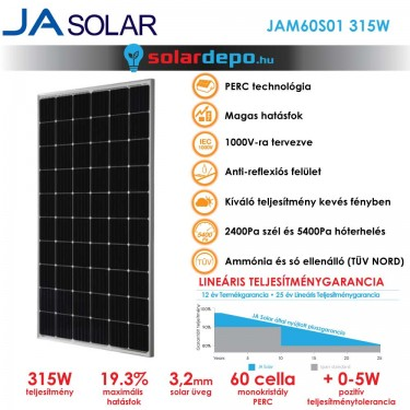 JA Solar 315W mono PERC