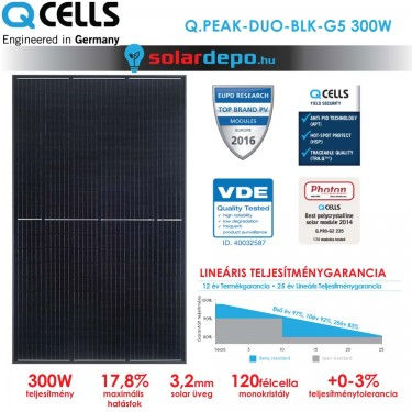 QCELLS QPEAK DUO BLK-G5 300W