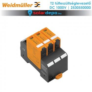 Weidmüller T2 típusú túlfeszültséglevezető 1000V