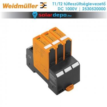 Weidmüller T1/T2 típusú túlfeszültséglevezető 1000V