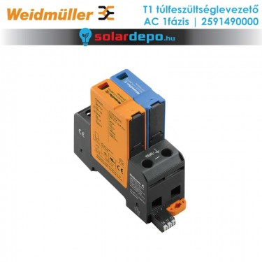 Weidmüller T1 típusú túlfeszültséglevezető 1fázis