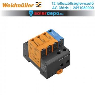 Weidmüller T2 típusú túlfeszültséglevezető 3fázis