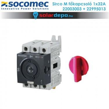 Socomec Sirco M 32A 1fázis főkapcsoló